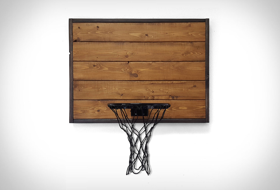 Rustic Wood Basketball Hoop