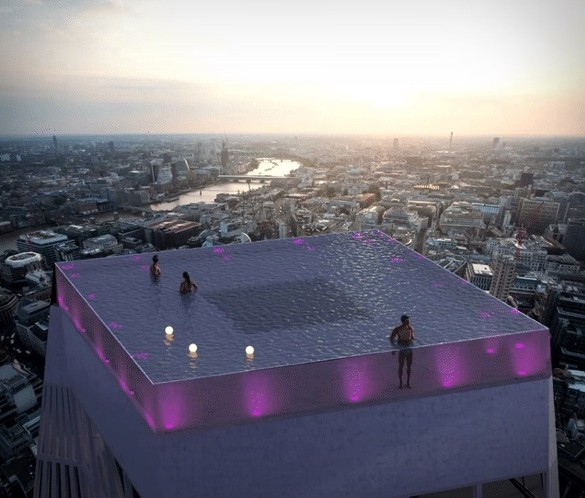 360-Degree Rooftop Infinity Pool