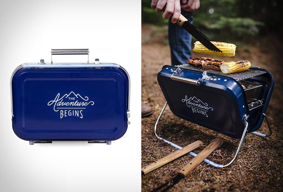 Portable Suitcase Barbecue