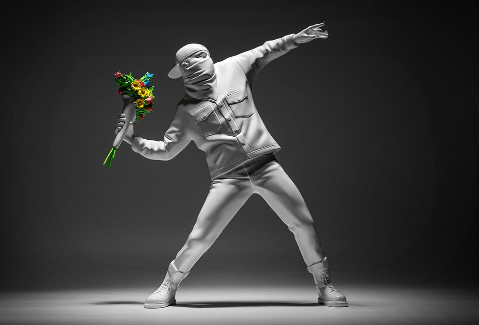 Banksy Flower Thrower Figurine
